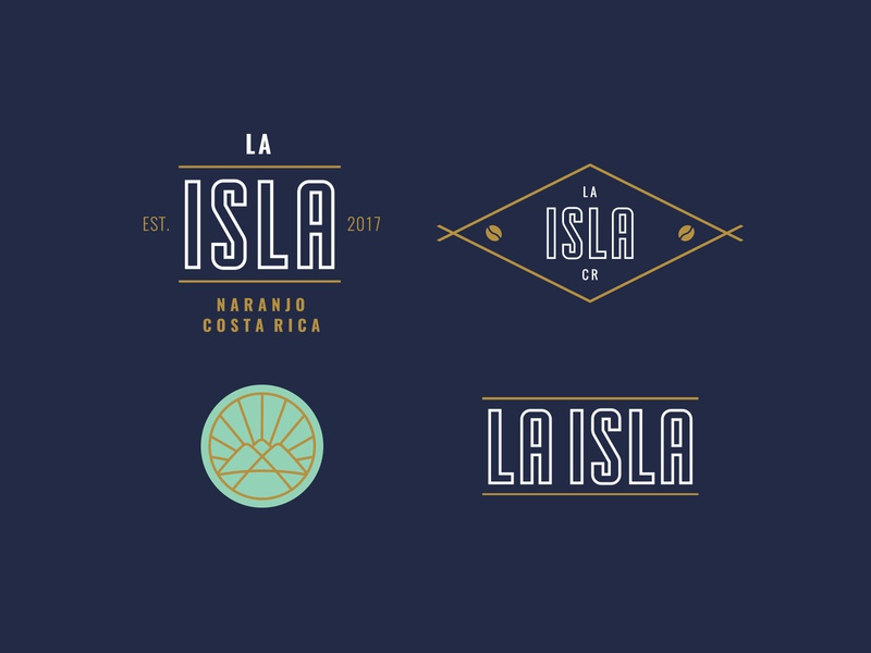 Badges for La Isla mark icon costa rica café coffee identity branding logotype logo badges badge la isla