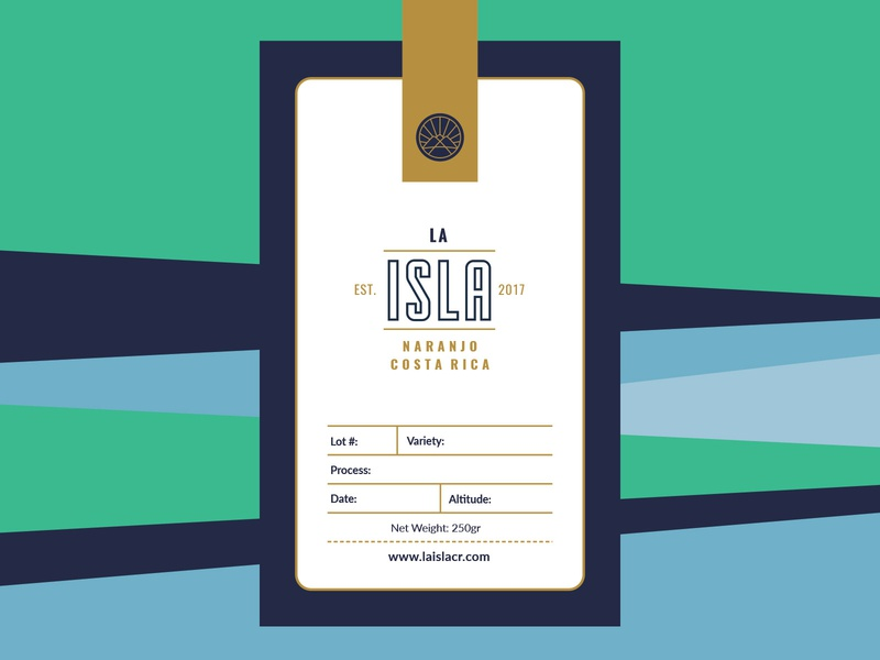 Packaging Explorations La Isla packaging design farm coffee label packaging pattern geometric costa rica icon identity logotype branding