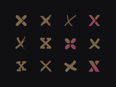 X-Explorations logotype logo design x explore identity branding typography mark explorations anniversary