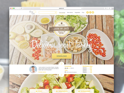 Salad Recipe salat roast turkey food recipe site landing page website design