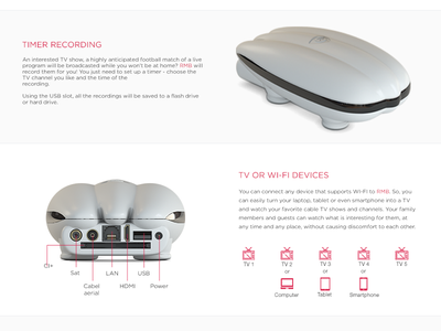 RMB WI-FI TV RECEIVER     tv clean front back rendering receiver realistic modeling dirigible model 3d