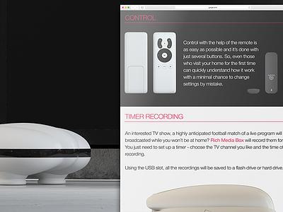 Remote control kickstarter model presentation tv rendering receiver realistic modeling remote сontrol 3d
