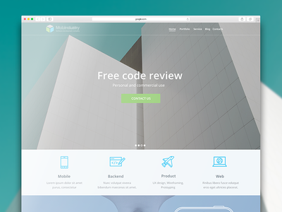 Landing web design visual ui simple code minimalistic page landing studio architect clean