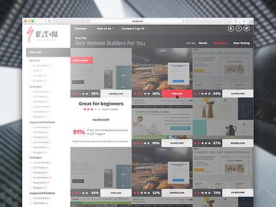 Web Site For Top Websites catalog layout interface website page web webdesign ux ui design deals business