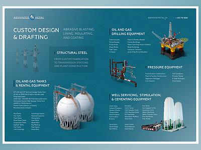 Metal structures Company brochure graphics corporate design brochure