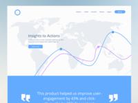 Web Analytics landing page concept