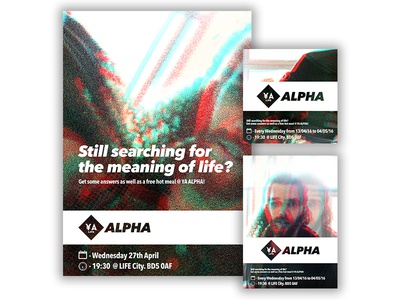 ¥A Alpha - Glitch Branding photo-manipulation digital photography church imagery logo brand glitch