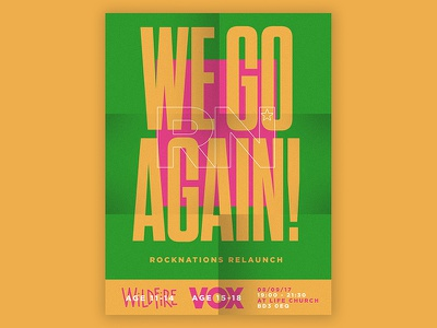 We Go Again - Event Poster