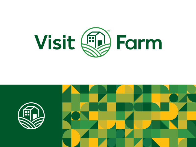 Visit Farm logodesign logotype identity farming visit farm nature green graphic digital branding brandidentity brand
