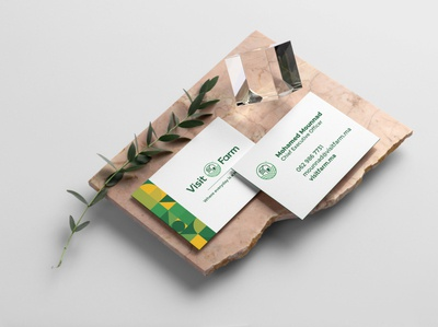 Visit Farm Business Cards logodesign branding logo farming nature green layout business card