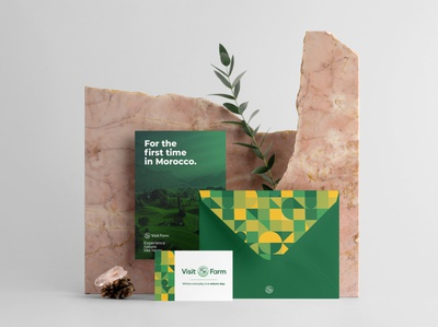 Visit Farm Branding green farming farm nature card envelope businesscard branding logodesign brand logo