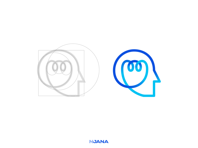 Inovagit Rebrading - Corporate Identity Design - Logo Mark process logo mark construction visual element technology redesign pattern monoline logodesign logo line bulb light head branding brand blue