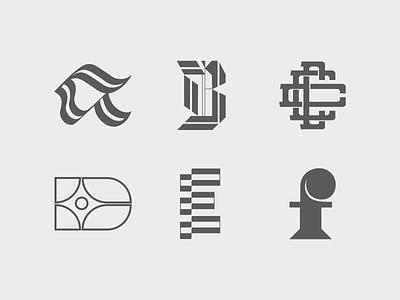 Letters A - F / 36typesofdays 36 days of type 36daysoftype type design typography