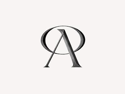 Monogram AO branding logo design typography