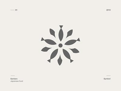 Symbol - Santaro Japonese vector symbol logo design
