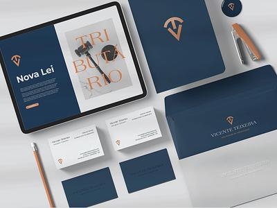 Law office stationery - Vicente Teixeira brand identity brand design logo branding design