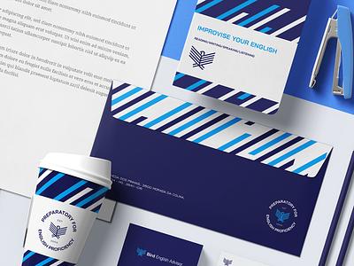 Stationery - Bird English Advisor brand identity logo branding design