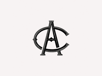 Monogram - AC typography logo design
