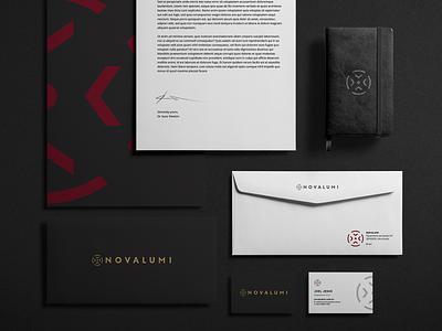 Brand - Novalumi Engenharia typography icon logo branding design