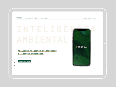 Header - TerraSys website web ux ui branding design