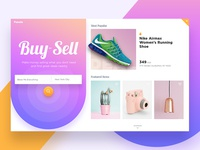 Pasale Landing Page clean material product showcase ux ui website ecommerce landing page landing page