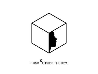 Think Outside the Box (v2) creative brand logo architecture