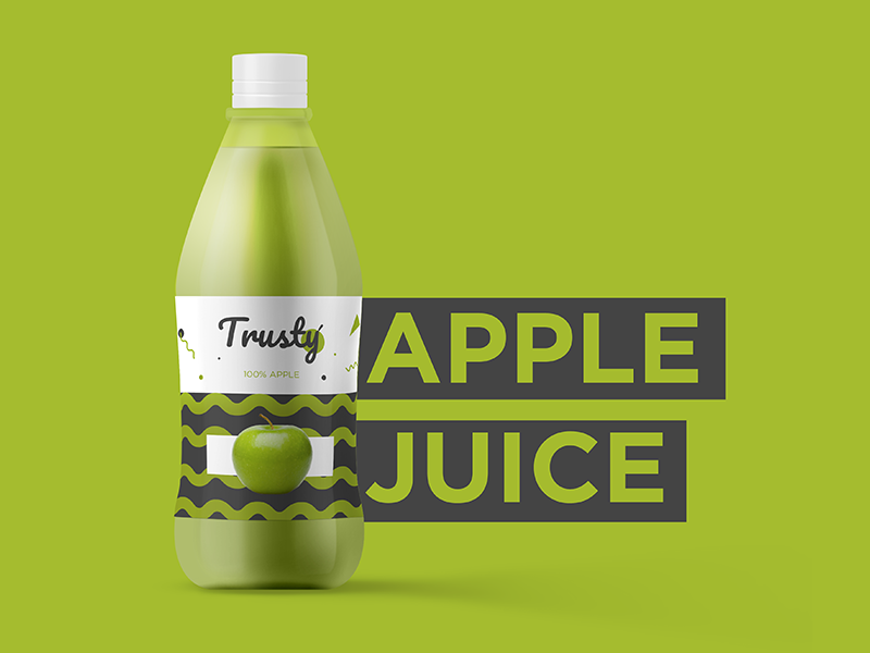 Trusty fruit icons creative health colours smoothie juice packaging design product logo branding