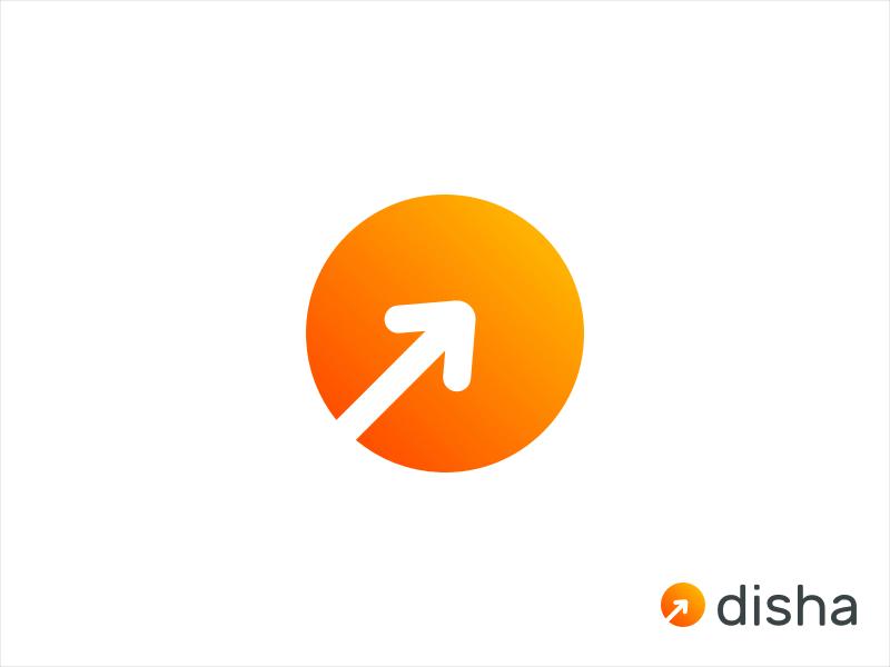 Disha Logo mark icon symbol digital growth illustration ui ux branding lineicon iconset creative