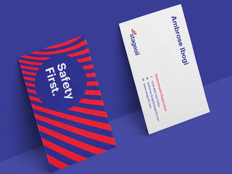 Business Card Design symbol logomark icon creative colours identity gas oil mockup logo branding
