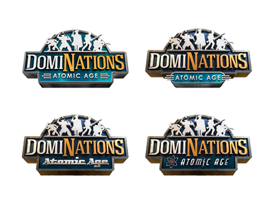 DomiNations Atomic Age logo exploration logo
