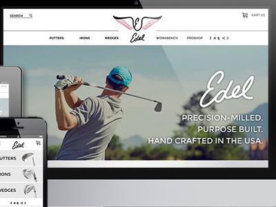 Edel Showcase development design ui ux responsive web e-commerce