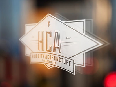 Hub City Acupuncture Logo Decal