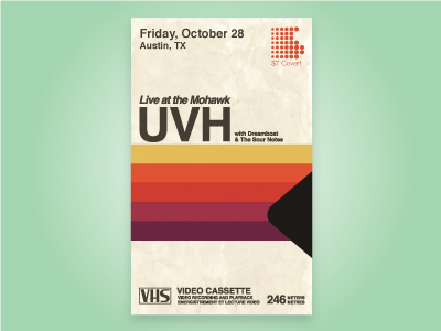 UVH Poster  band poster vintage tape vhs