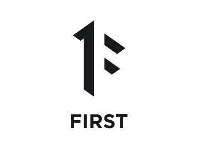 First Logo magic ratio negative space minimalism logo