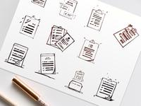 Forms Icon Concept Sketch