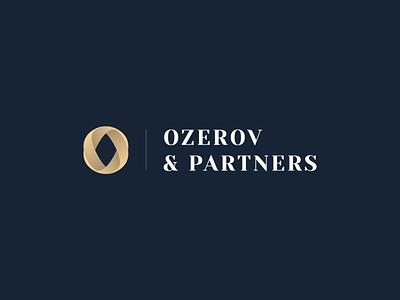 Ozerov and Partners luxury lawyer o letter symbol monogram classy class vector attorney law gold gradient minimal mark logotype logo identity icon design branding
