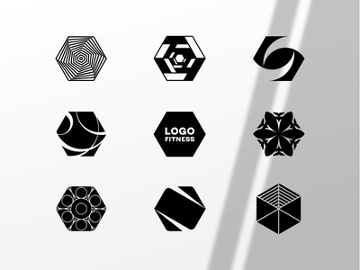 Hexagon Fun minimal mark design icon hexagon logo hexagons hexagon black and white symbol graphic design logotype logo geometry