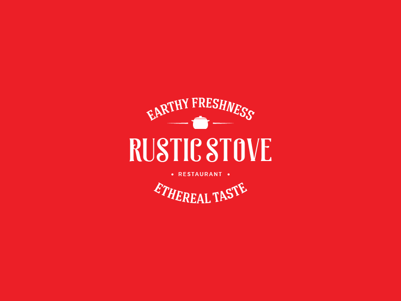 Rustic Stove firstshot rustic graphics badge typography restaurant food identity branding logotype logo