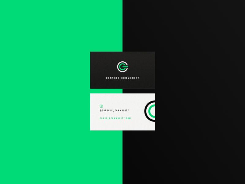 Console Community business card design brand simple minimalist graphics identity branding logo logotype
