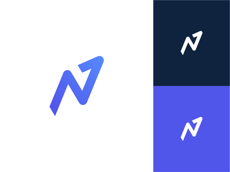 N1 minimal mark logotype identity icon design typography symbol modern logo geometric branding