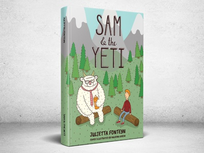 Sam and the Yeti - Book Cover childrens book book cover illustrator yeti book illustration