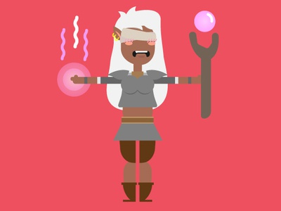 Blind Elf Character WIP concept design character illustration blind elf magic wand minimal design character concept character animation characterdesign clean design animation 2d adobe illustrator adobe aftereffects rubberhose2 illustration character design animation flat design