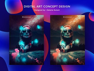 Digital art concept digital illustration digitalart illustration art graphicdesign nature design gradient digital painting poster art poster illustration design graphic