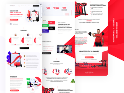Fitness Coaching Program landing page for a sales funnel UI/UX course website gym website sales funnel coaching program fitness gym illustration landing page graphic interface ux ui design