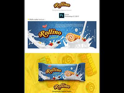 Dribbble rolls cake fruits branding box bag paper packaging lettering design