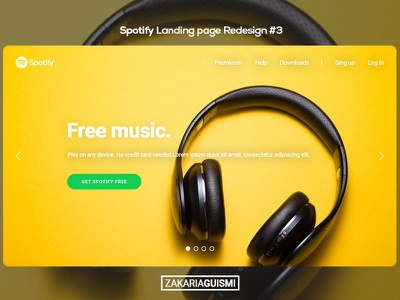 Spotify Landing page redesign UI/UX #3 landing page interface website music ux ui interactive gradient