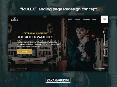 ROLEX landing page redesign UI/UX rolex user redesign screen landing page interface home ux ui graphic design