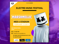 Marshemllo event poster Yellow version