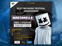 Marshemllo event poster black version