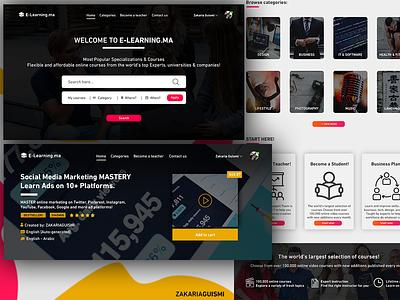 E-LEARNING website design UI/UX website store e-learning platform freebie webdesign uiux home landing page ux ui screen design